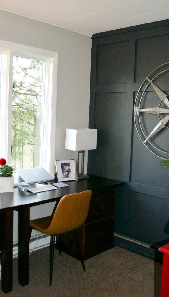 Sara Langley Designs | gray office interior