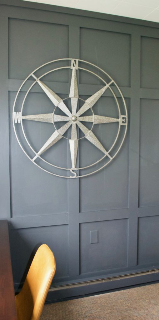 Sara Langley Designs|panel focal wall, millwork, gray accent
