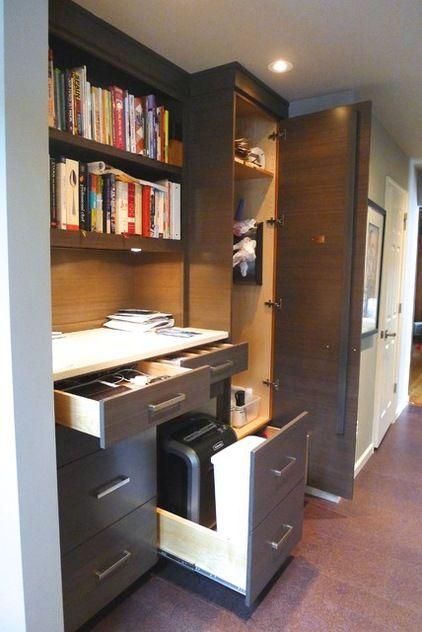 shredder hidden in cabinet