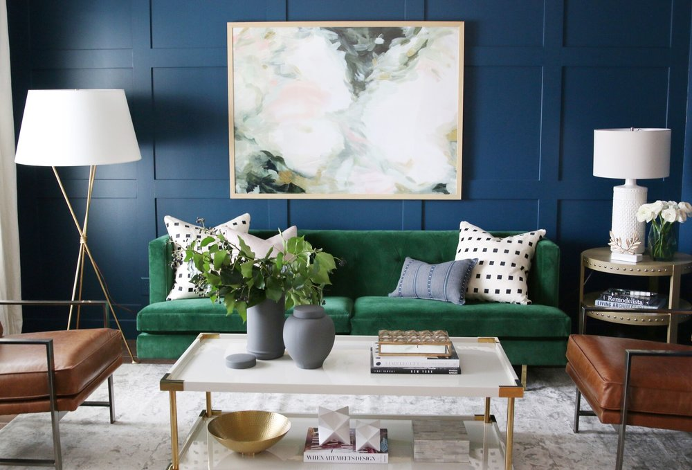 moody paint accent wall