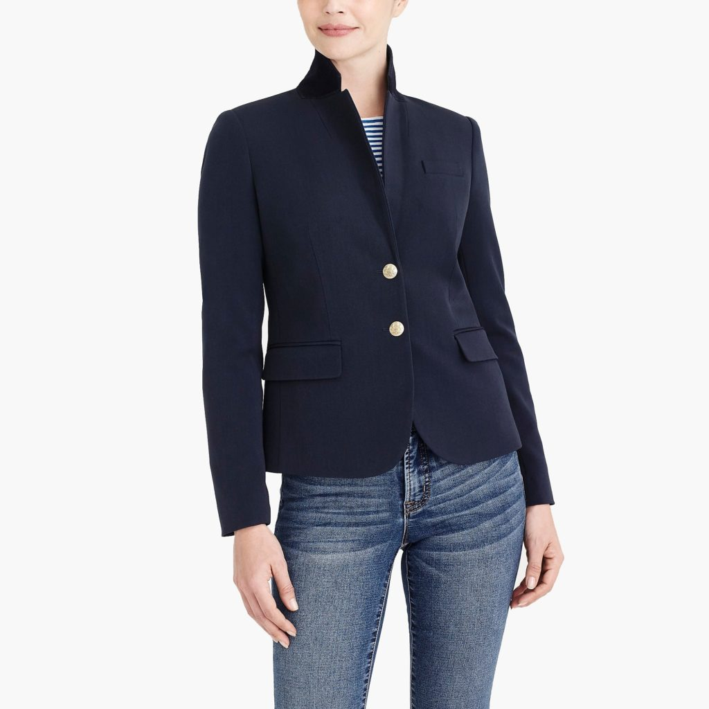 J.crew factory navy womens blazer