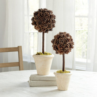 pinecone topiary Ballard designs