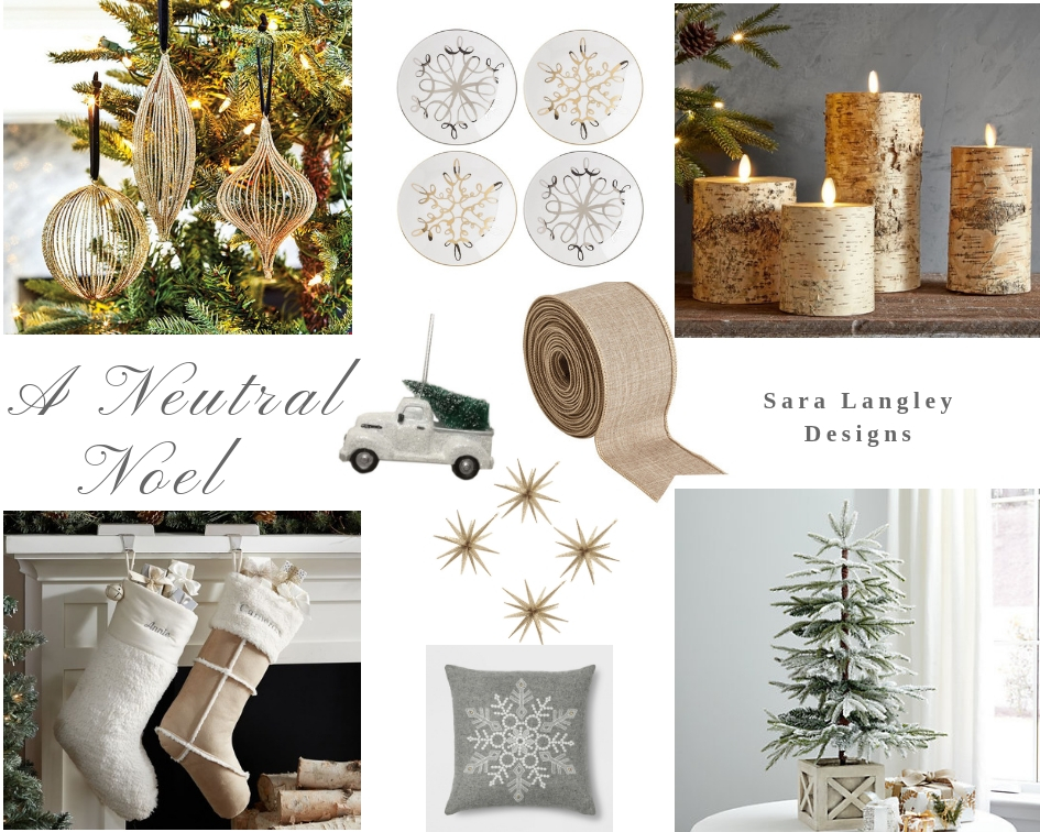 Neutral holiday color palette